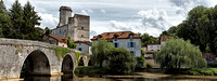 Panorama of the Bridge and Castle - Bourdeille, France