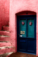 Pink House with a Blue Door - Collioure, France