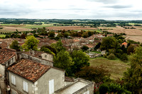 Looking West from the Château Walls - Villebois-Lavalette, France