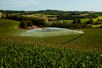 Water Cannon and Cornfield - Near Villebois-Lavalette, France